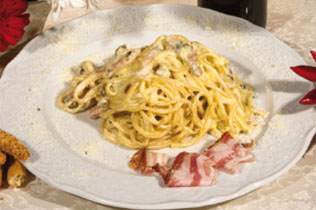 Spaghetti alla carbonara - Cin Cin Bar Restaurant & Cafe' - MILANO