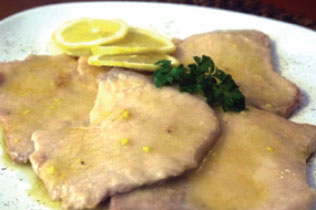 Scaloppine al vino bianco / limone - Cin Cin Bar Restaurant & Cafe' - MILANO